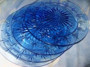 Boho blue plates