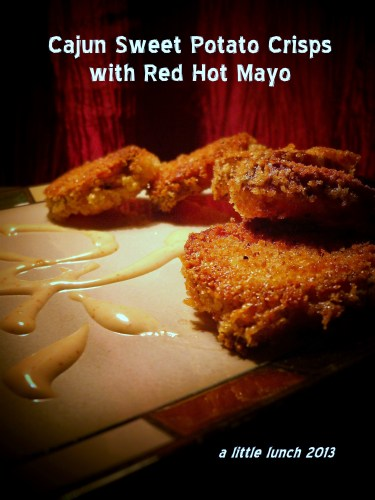 Cajun Sweet Potato Crisps with Red Hot Mayo