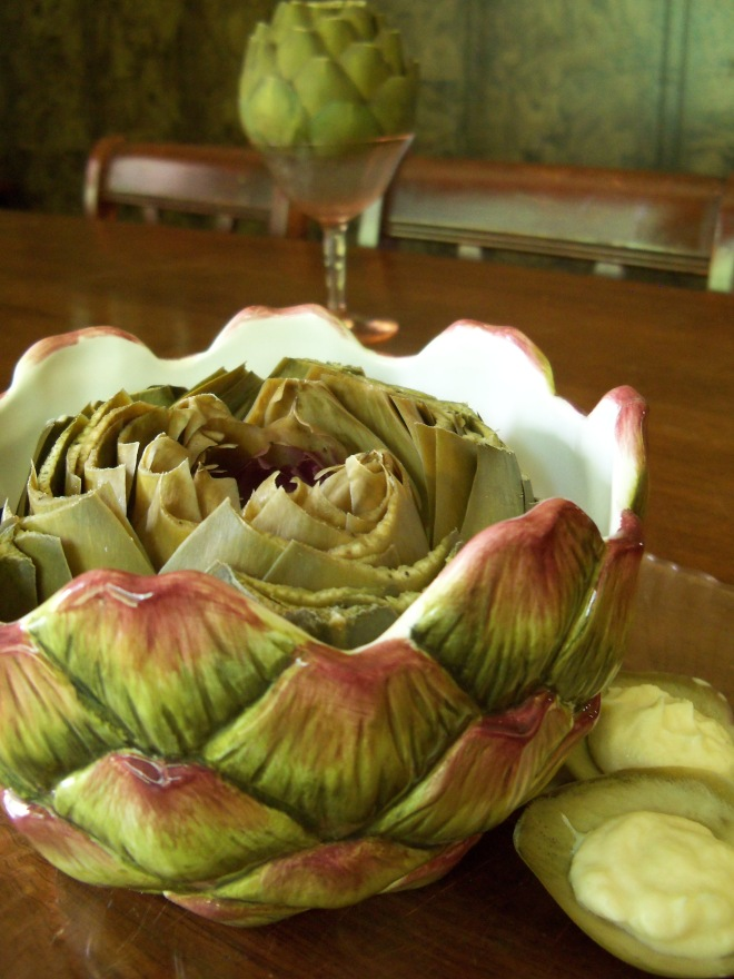 Artichoke with Japanese Mayo