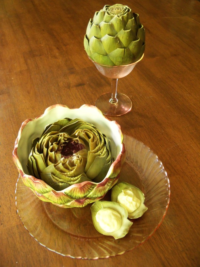 Artichokes with Japanese Mayonnaise