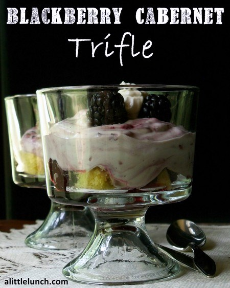 Blackberry Cabernet Trifle