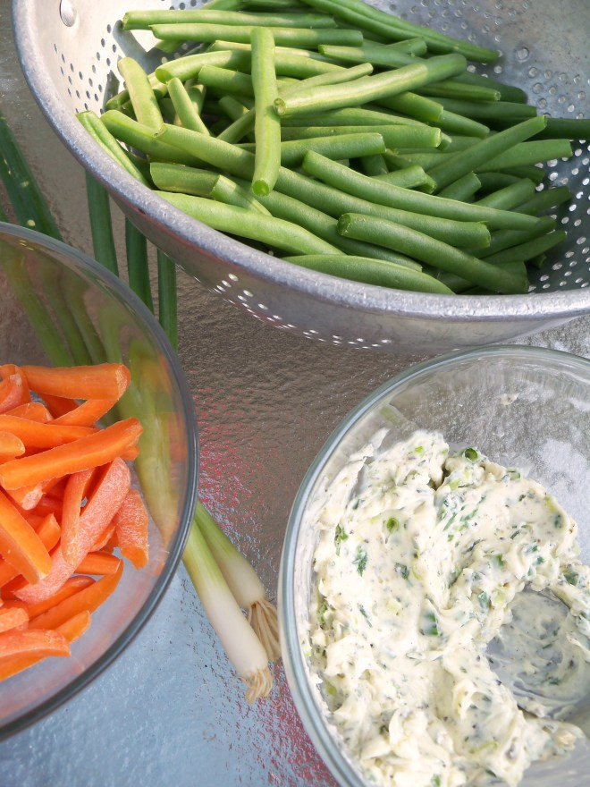 Summer Veggies with Compound Butter