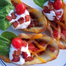 """BLT"" Baked Potato Skins"