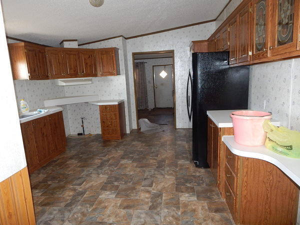 Kitchen with new flooring