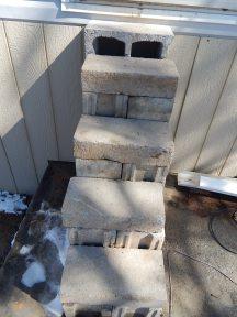"Russ's temporary ""steps"" ;)"