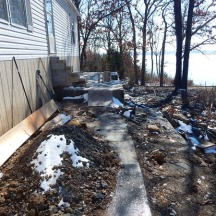 What used to be our deck