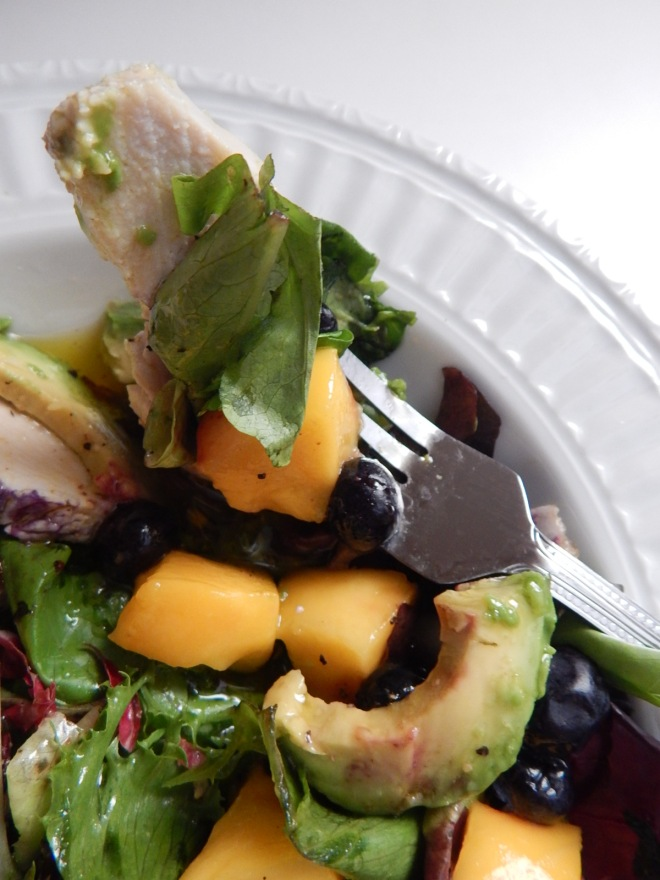 Chx Avo Mango Blueberry Salad vertical
