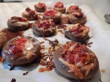 Caprese Stuffed Mushrooms
