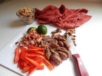 Steak, Bacon & Pepper Fajitas