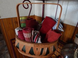 Basket of towels in the corner