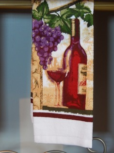 Wine kitchen towel