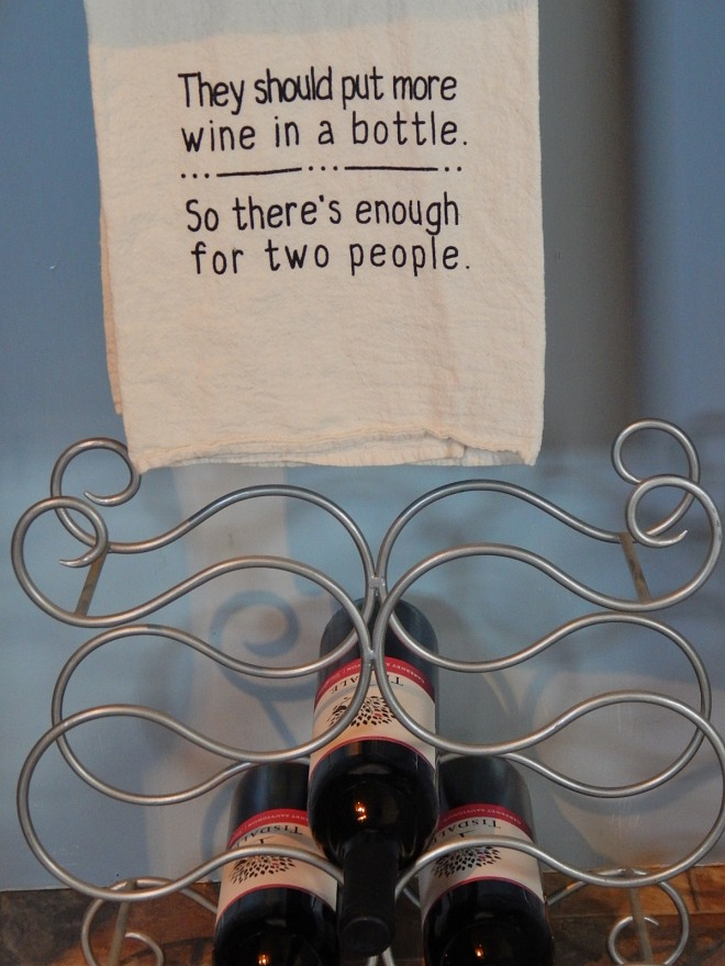 Wine tea towel