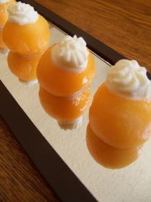Cantaloupe with Cannoli Cream
